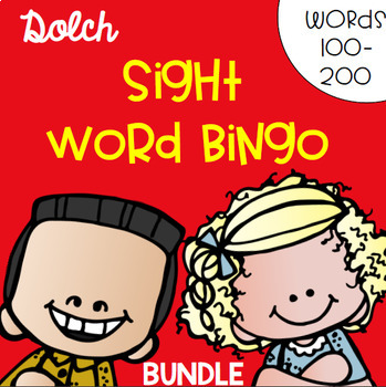 Sight Word Bingo Bundle for Words 100-200