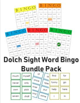Dolch Sight Word Bingo Bundle (pre-primer to 3rd grade)