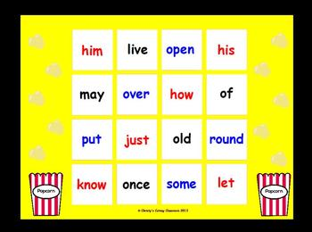 Dolch Sight Word Bingo--Grade One List