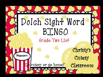 Dolch Sight Word Bingo--Grade Two List