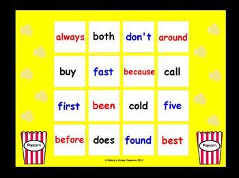 Dolch Sight Word Bingo--Grade Two List