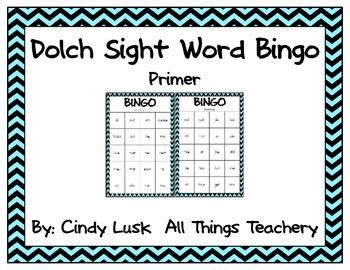 Dolch Sight Word Bingo:Primer List