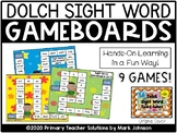 Dolch Sight Word Board Games {9 Colorful Game Boards}
