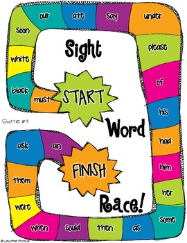 dolch sight word board games all 220 sight words by leanne prince