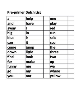 Dolch Sight Word Board Games and Assessment