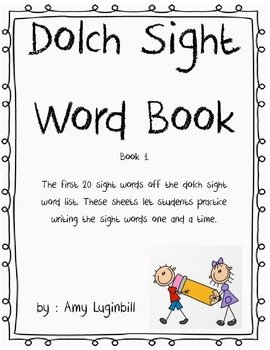 Dolch Sight Word Book
