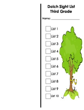 Dolch Sight Word Book (Third Grade)