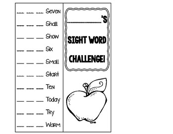 Dolch Sight Word Book- Third Grade