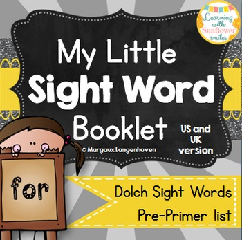 Dolch Sight Word Booklet - FOR (Pre-Primer)