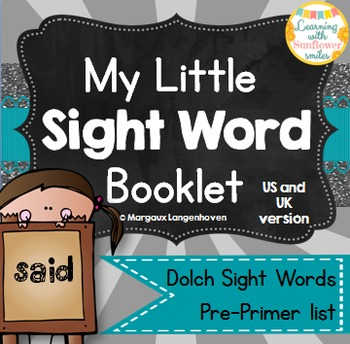 Dolch Sight Word Booklet - SAID (Pre-Primer)