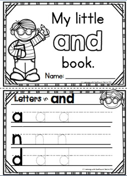 Dolch Sight Word Booklet (and)