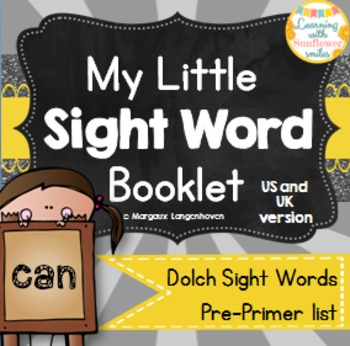 Dolch Sight Word Booklet - can (Pre-Primer)