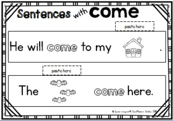 Dolch Sight Word Booklet - come (Pre-Primer)