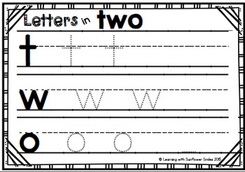 Dolch Sight Word Booklet - two (Pre-Primer)