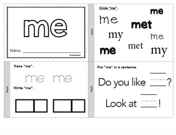 picture relating to Printable Sight Word Books identified as Dolch Sight Terms Printable Guides - Pre-Primer Fixed