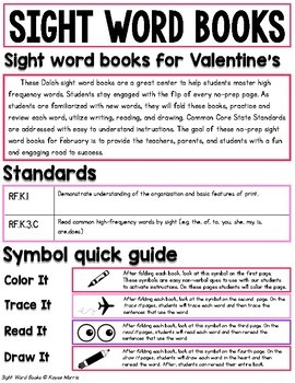 Valentine's Day Activities Sight Words - Pre-PrimerValentine's Day Activities fo
