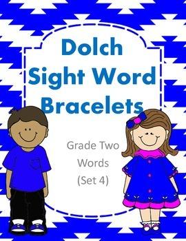 Dolch Sight Word Bracelets Grade Two Set