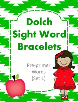 Dolch Sight Word Bracelets Pre-Primer Set