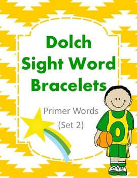 Dolch Sight Word Bracelets Primer Set