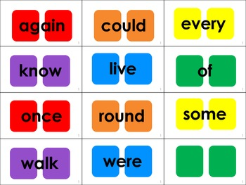 Dolch Sight Word Candyland® Cards: 1st Grade