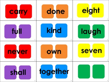 Dolch Sight Word Candyland® Cards: 3rd Grade