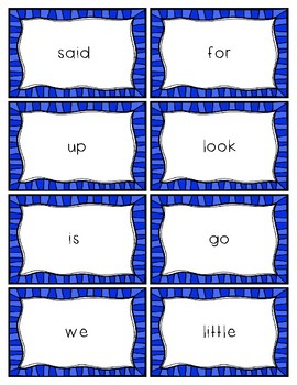 Dolch Sight Word Card Bundle: Pre-Primer - Third Grade
