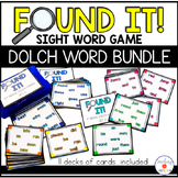 Dolch Sight Word Card Game Bundle   Found It!
