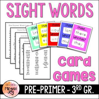 I Have, Who Has Dolch Sight Words Card Games (5 Sets!)
