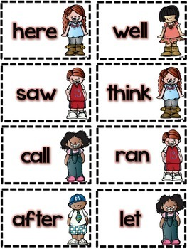 Dolch Sight Word Cards
