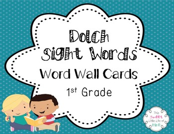 Dolch Sight Word Cards - 1st Grade