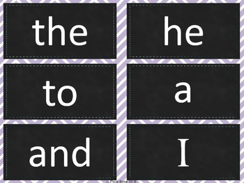 Dolch Sight Word Cards: 220 Words in Chalkboard & Chevron Theme