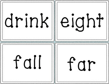 Dolch Sight Word Cards - 3rd Grade
