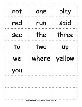 Dolch Sight Word Cards + 7 Activity Ideas