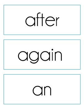 Sight Word Cards, Dolch First Grade