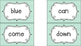 Dolch Sight Word Cards (Gray, Turquoise, Yellow)