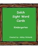 Dolch Sight Word Cards Kindergarten