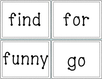 Dolch Sight Word Cards - Pre-Primer