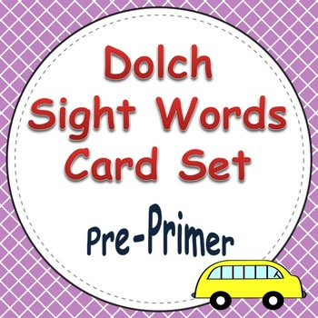 Dolch Sight Word Cards (Pre-Primer List)
