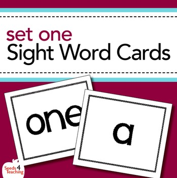 Dolch Sight Word Cards- Pre-Primer Set