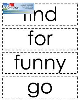 Dolch Sight Word Cards: Pre-primer, Primer, Level 1, Level 2, Color/Number Words