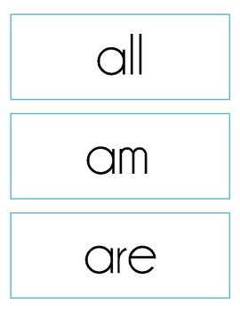 Sight Word Cards, Dolch Primer