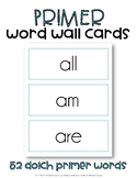 Dolch Sight Word Cards, Primer