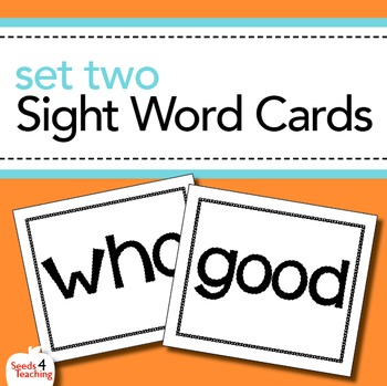 Dolch Sight Word Cards- Primer Set