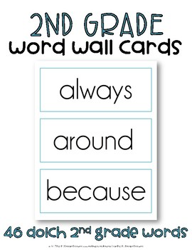 Dolch Sight Word Cards, Second Grade
