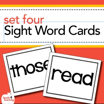 Dolch Sight Word Cards - Second Grade Set