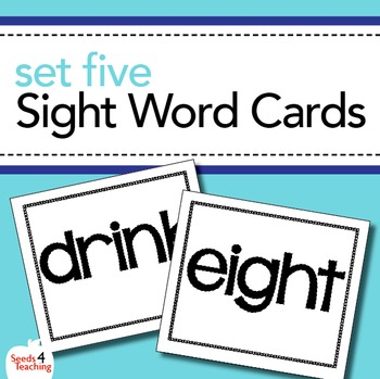 Dolch Sight Word Cards - Third Grade Set