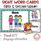 Dolch Sight Word Cards: 1st and 2nd Grade Lists