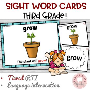 Dolch Sight Word Cards for RTI: Third Grade