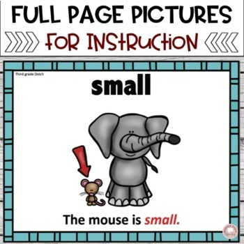 Sight Word Cards with Pictures:   Dolch Third Grade