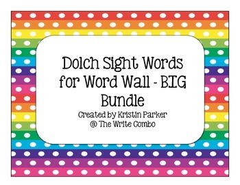 Dolch Sight Word Cards for Word Wall - BIG Bundle!